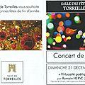 Concert de noel avec romain hervé, torreilles le 21 décembre 2014