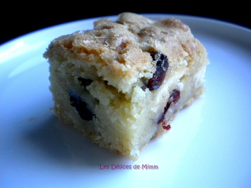 Blondies aux cranberries