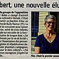 Martine Thibert : Une nouvelle élue
