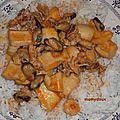 Blancs de seiche et fruits de mer au safran