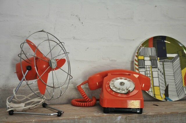 ventilateur orange