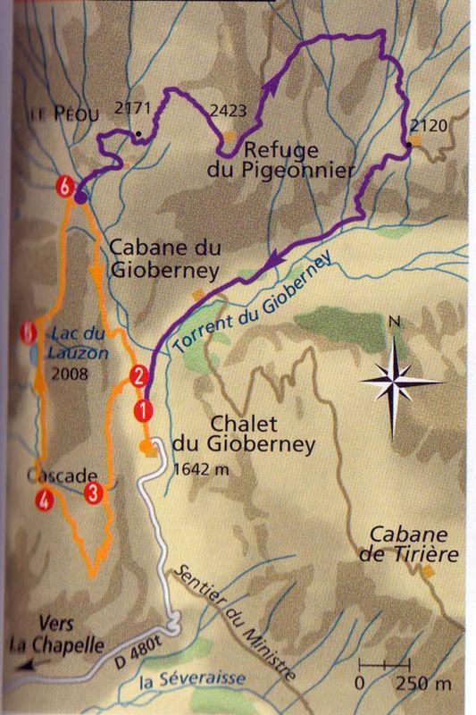 Randonnée au lac du Lauzon 2020m 24/07/2011