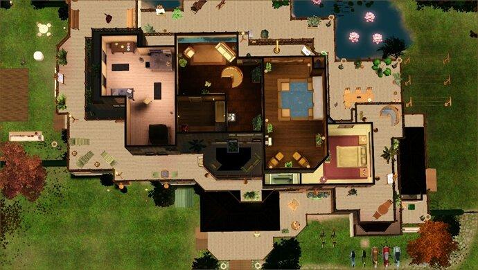 la maison des bishop en t l chargement les sims 3 de tsilia. Black Bedroom Furniture Sets. Home Design Ideas