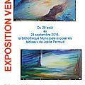 Exposition des tableaux de joëlle perroud