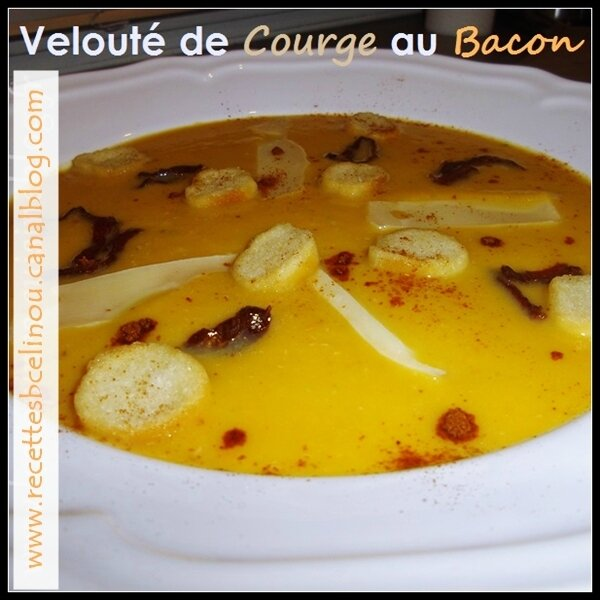Velouté de courge au Bacon.
