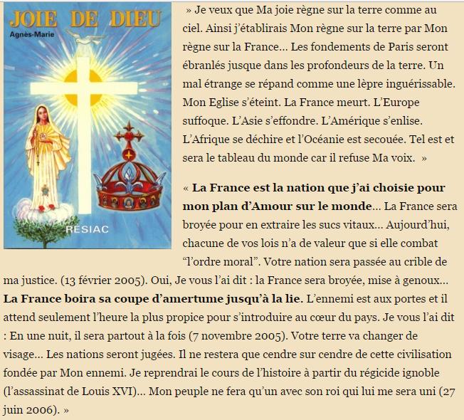 A la France boira la lie prophétie