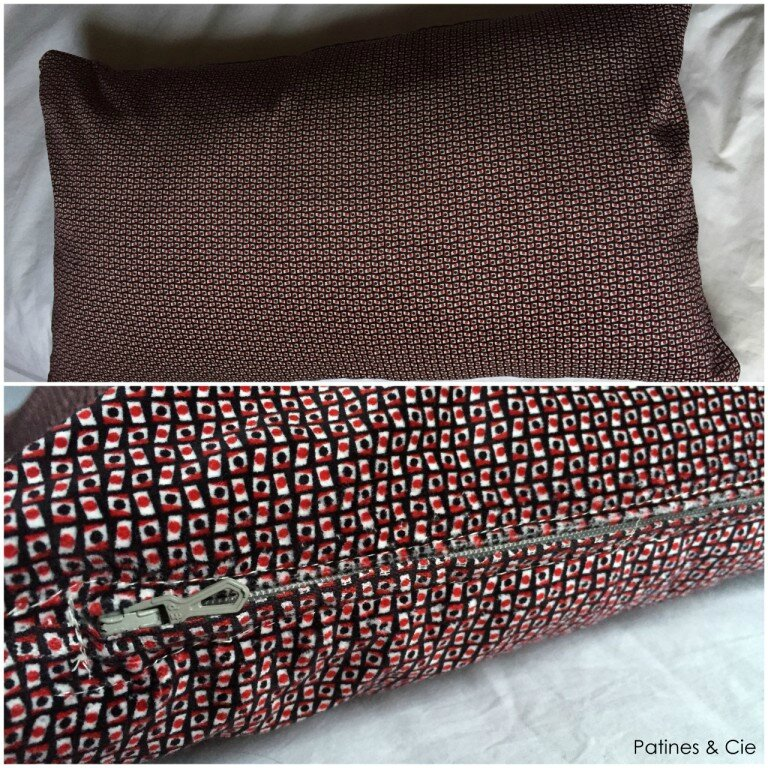 coussin fermeture
