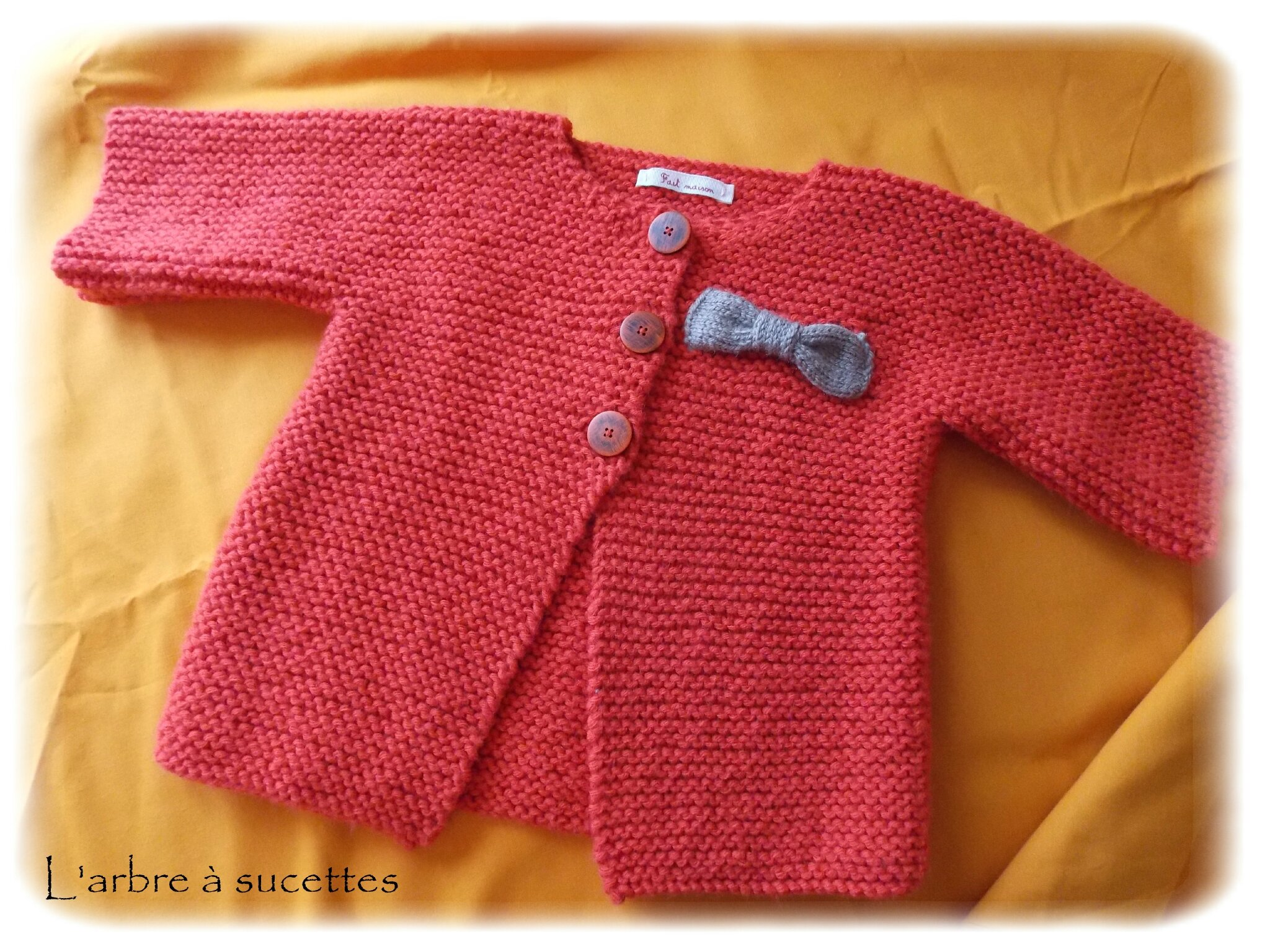 tuto tricot gilet fille 2 ans