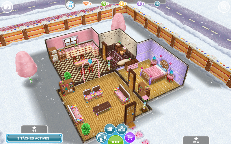 Les sims freeplay merveilleux paysages d 39 hiver secret for Modele maison sims freeplay