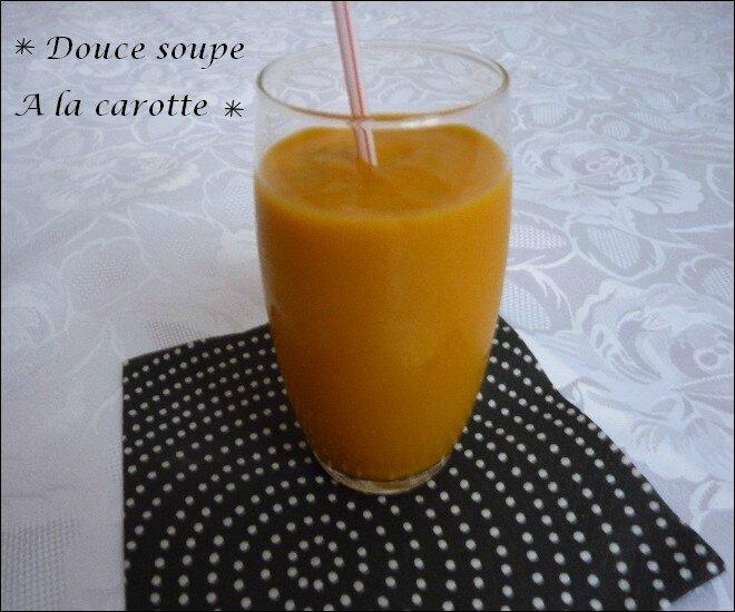 douce soupe à la carotte 2