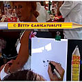 Vido caricature dessine en direct par Betty caricaturiste