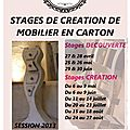 Stages mobilier carton - session 2013