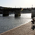 Vlo, Quai de seine, Pt des Arts, Ombres, Silhouettes_4985