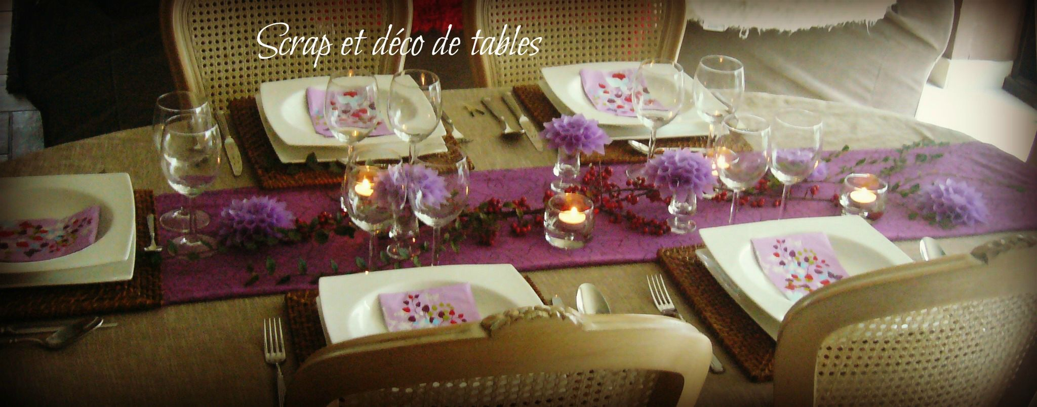 Deco de table dahlia scrap et d co de tables for Plat pour recevoir amis