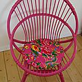 fauteuil fuchsia