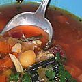 Un congre pris dans une drague pour une soupe de poisson aux cocos de paimpol et kari gosse