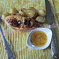 Poulet à la tapenade verte à la tomate et ses pommes de terre