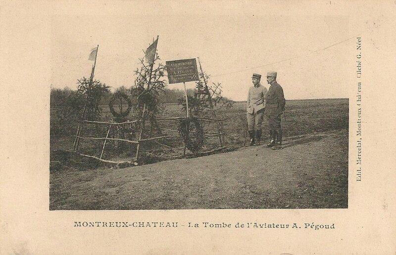 CPA Petit-Croix Tombe provisoire Pégoud