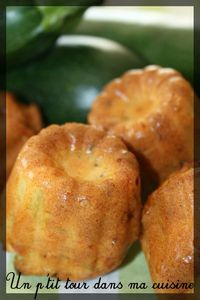 Cannelés saumon courgette