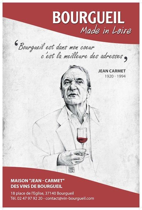 Jean Carmet : Vins et cochonnailles à Bourgueil.