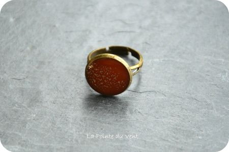 bague pastille corail & paillettes resized
