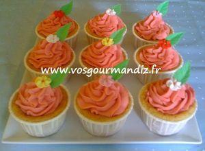 Cupcakes fraise Vos Gourmandiz