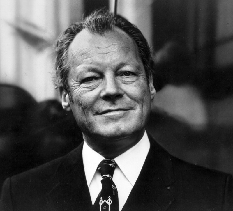 photo mouvement socialiste RFA - Willy Brandt