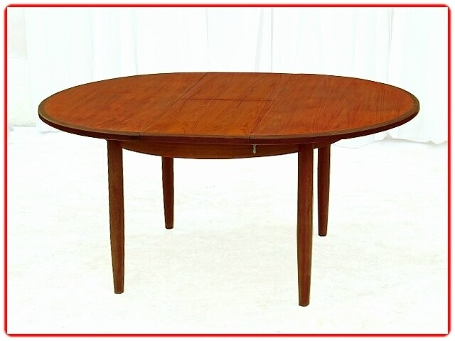 table ronde scandinave 1950 - 1960