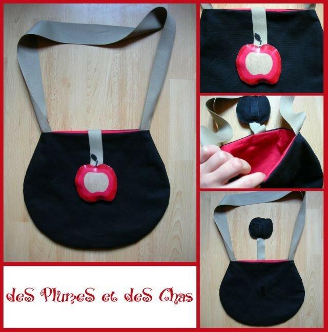sac noir pomme