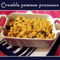 Crumble pommes pruneaux