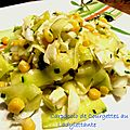 Carpaccio de courgettes au cantal