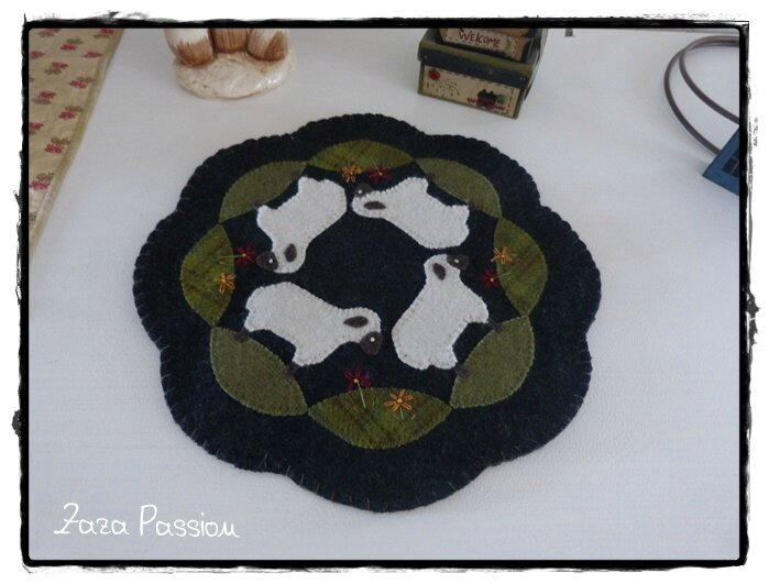 Candle Mat Sheep 04
