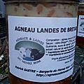 Conserves d'agneaux landes de bretagne du menez hom
