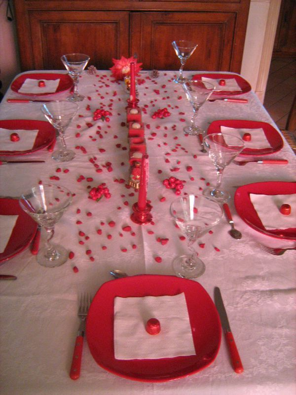 No l en rouge et blanc tables et d co d 39 estelle for Decoration de noel rouge et blanc