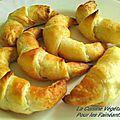 Croissants aux 3 cajoumages (basilic-poivron-cumin)