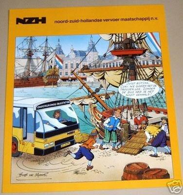 Poster pour les bus NZH (Pays-Bas) dessin inédit