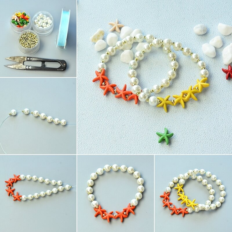 1080-How-to-Make-Starfish-Turquoise-Bead-Bracelet-with-Glass-Pearl-Beads