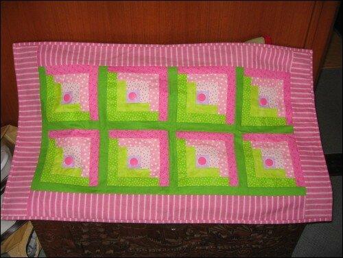 Patch rose et vert (création personnelle)