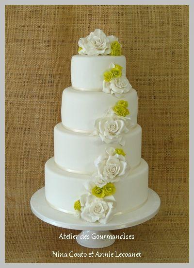 Wedding cake ... roses en sucre - Atelier des Gourmandises