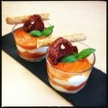 Tiramisu aux poivrons et mascarpone à la pancetta [sev]