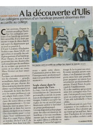 Article ULIS St Sulpice