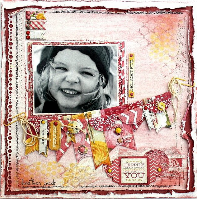 DELIGHTFUL LAYOUT BY HEATHER JACOB