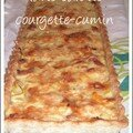 Tarte carottes-courgettes-cumin
