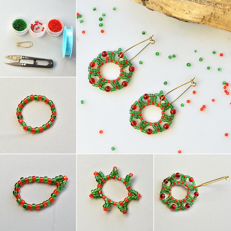 1080-Tutorial-on-Making-Christmas-Hoop-Earrings-with-Seed-Beads-and-Glass-Beads