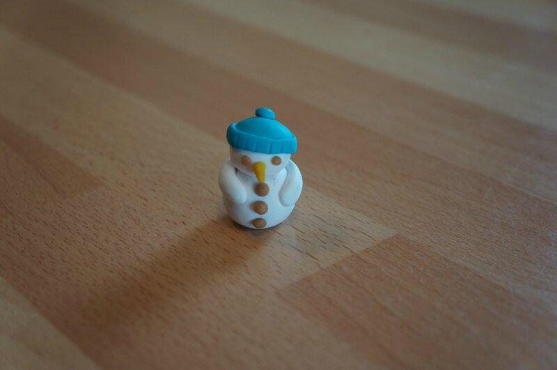 bonhomme de neige fimo