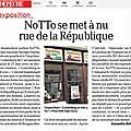 Notto se met a nu rue de la république.