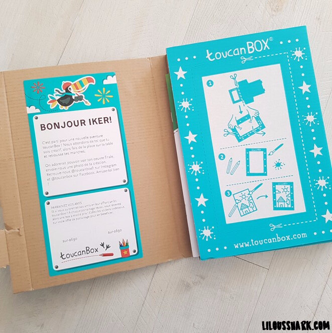 toucan box packaging interieur