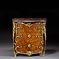 Commode d'époque louis xv, attribuée à adrien delorme