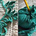 Sur mon crochet.... collier réalisé en coton