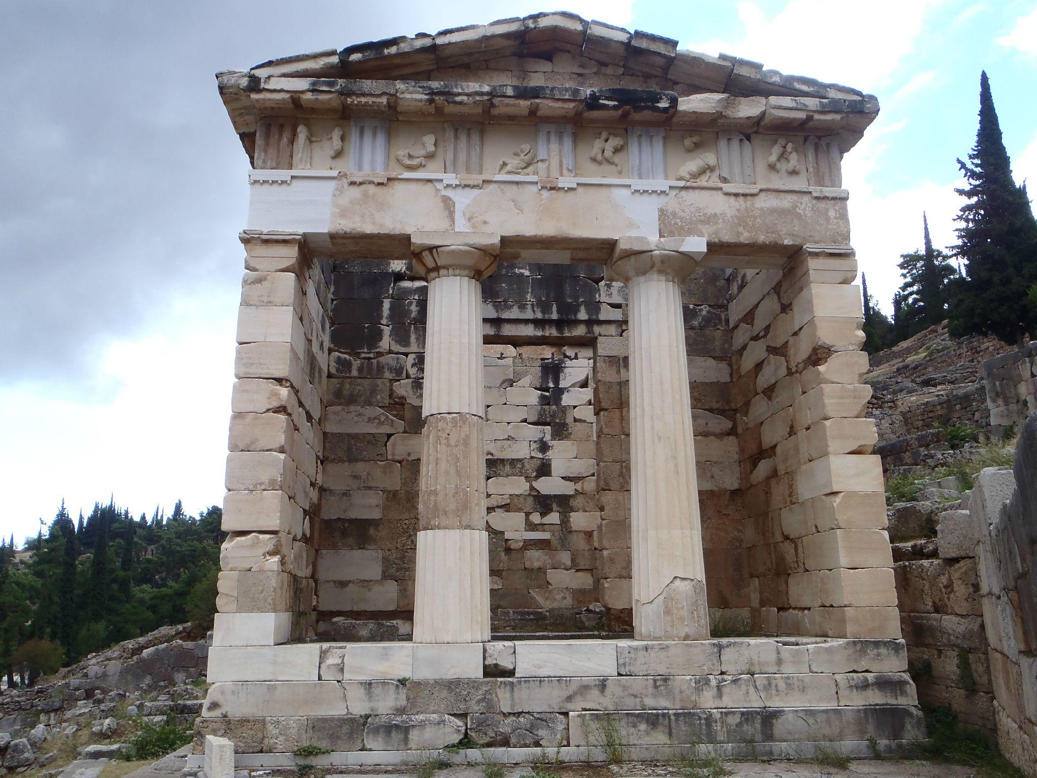 grèce delphes temple d'athenes